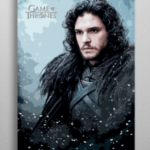 John Snow plakat - Metal - Game Of Thrones