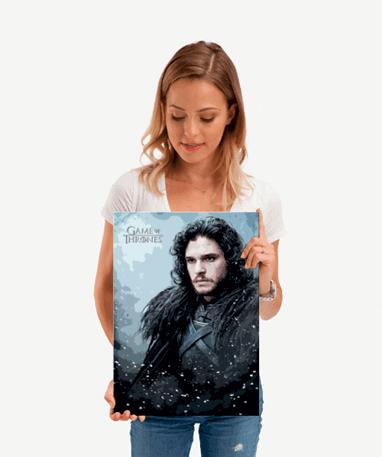 John Snow plakat - Metal - Game Of Thrones - Lille