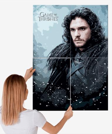 John Snow plakat - Metal - Game Of Thrones - Stor