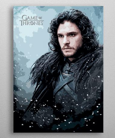 John Snow plakat - Metal - Game Of Thrones