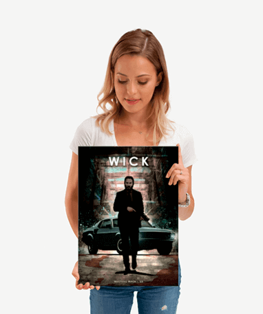 John Wick Metal plakat - Lille