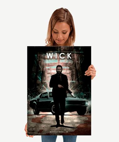 John Wick Metal plakat - Mellem