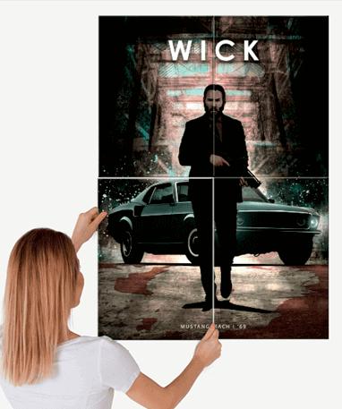 John Wick Metal plakat - Stor