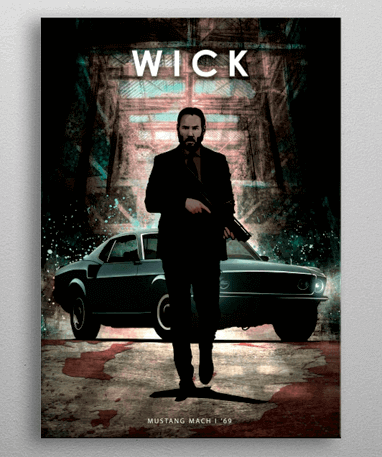 John Wick Metal plakat - magnetmonteret plakat