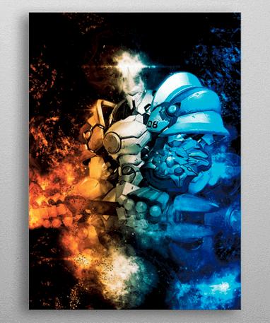 Reinhardt plakat - Metal - Overwatch