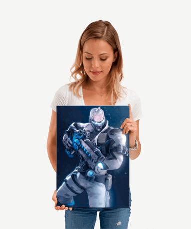 Soldier 76 plakat - Metal - Overwatch - Lille