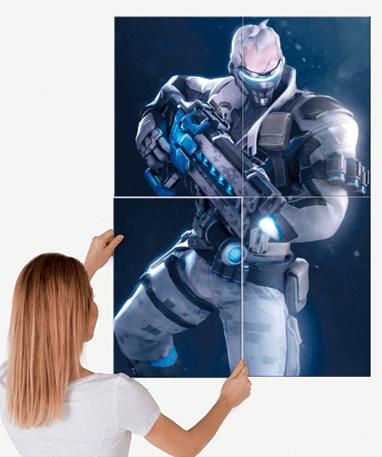 Soldier 76 plakat - Metal - Overwatch - Stor