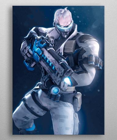 Soldier 76 plakat - Metal - Overwatch