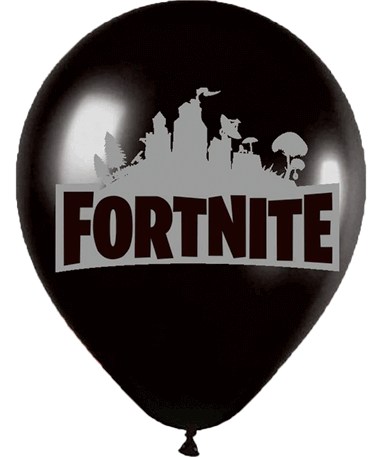 Sort Fortnite ballon