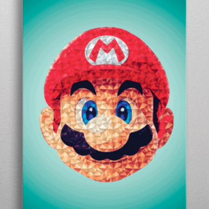 Super Mario metal plakat