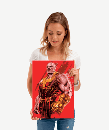 Thanos metal plakat - Marvel - Lille