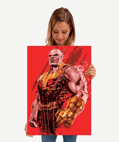 Thanos metal plakat - Marvel - Mellem