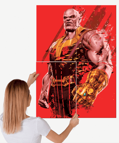 Thanos metal plakat - Marvel - Stor