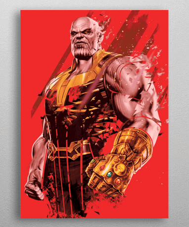 Thanos metal plakat - Marvel
