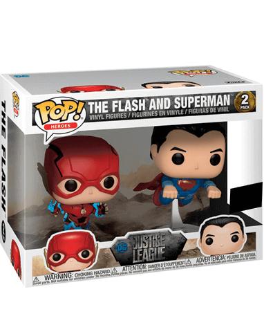 The Flash & Superman race Funko Pop figur - Justice League - I kasse