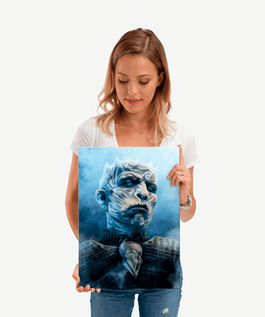 The Night King plakat - Metal - Game Of Thrones - Lille