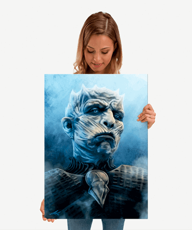 The Night King plakat - Metal - Game Of Thrones - Mellem