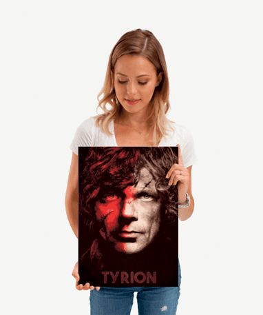 Tyrion Lannister plakat - Metal - Game Of Thrones - Lille