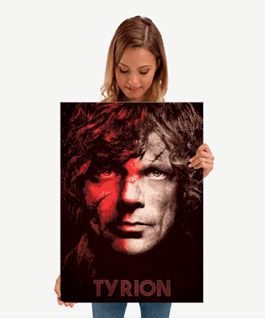 Tyrion Lannister plakat - Metal - Game Of Thrones - Mellem