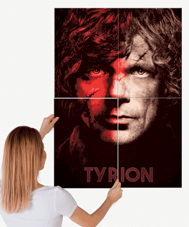 Tyrion Lannister plakat - Metal - Game Of Thrones - Stor
