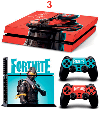 Image of   Fortnite Playstation 4 klistermærker - Design 3