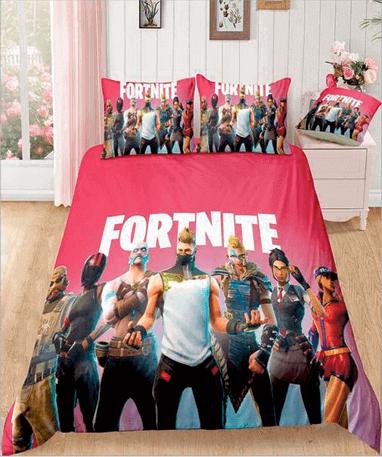 Fortnite sengetøj rød