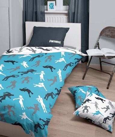 Fortnite sengetøj - Hvid - Blå