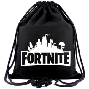 Fortnite sportstaske i sort - Drawstring