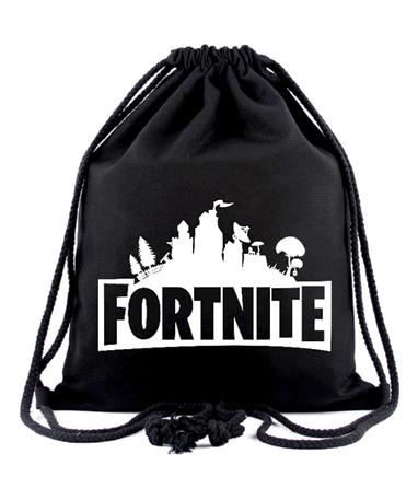 Fortnite sportstaske i sort - Drawstring