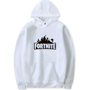 Fortnite hættetrøje til børn og unge - Hvid Fortnite hoodie