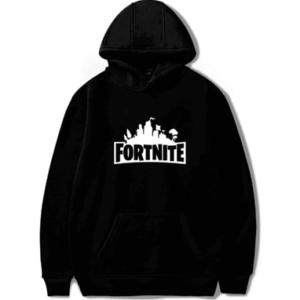 Fortnite hættetrøje til børn og unge - Sort Fortnite hoodie