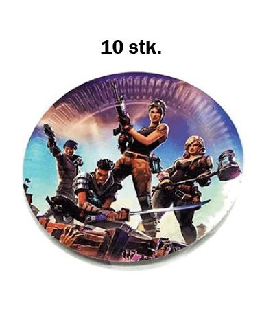 Image of   Fortnite Fødselsdag / Temafest - 10 stk. Paptallerkner