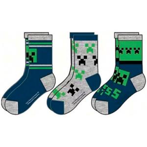 Minecraft sokker 3 stk