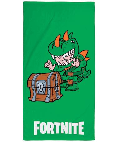 Grønt Fortnite badehåndklæde