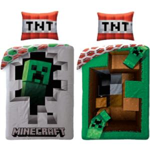 Minecraft sengetøj - 140x200cm