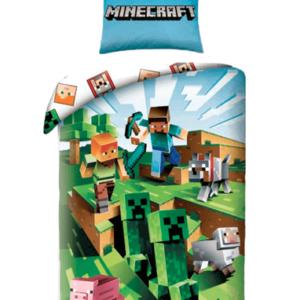 Minecraft sengetøj til børn - Grøn