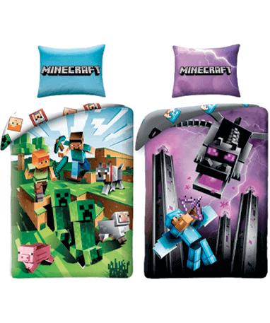 Minecraft sengetøj - vælg mellem 2