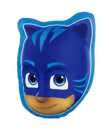 Pyjamasheltene blå pude - kattedreng pude