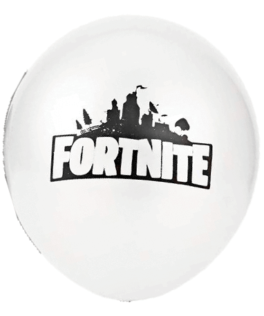 Image of   Fortnite balloner - 10 stk. - 10 Hvide