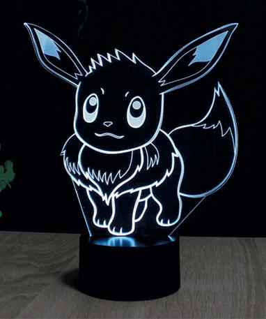 Eevee Pokémon 3D lampe