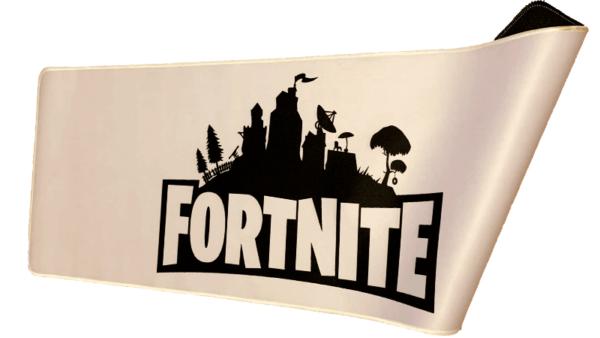 Hvid Fortnite musemåtte - Logo