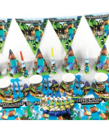 Minecraft fødselsdagspynt - temafest