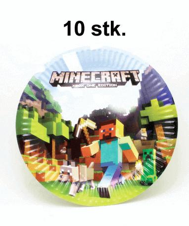 Minecraft paptallerken til temafest