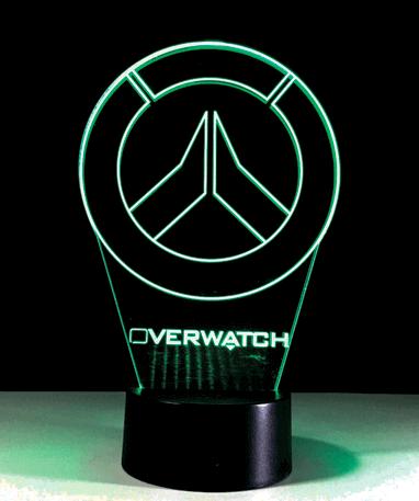 Overwatch Logo 3D lampe