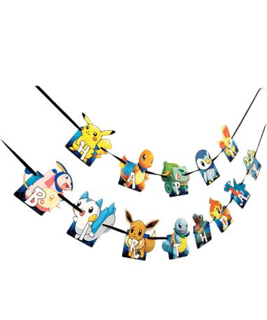 Image of   Pokémon Fødselsdag / Temafest - 1 stk. banner