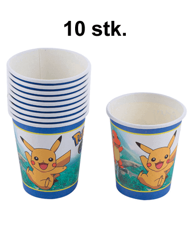 Image of   Pokémon Fødselsdag / Temafest - 10 stk. Papkrus