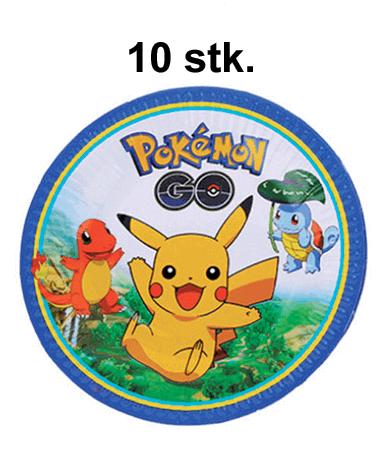 Image of   Pokémon Fødselsdag / Temafest - 10 stk. Paptallerkner