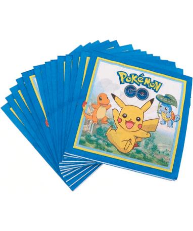 Pokémon servietter - 20 stk - Fødselsdagspynt