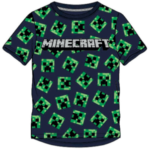 Design 1 Minecraft t-shirt til børn creeaper