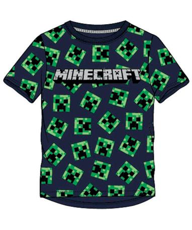Design 1 Minecraft t-shirt til børn creeaper